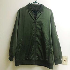 Bernardo Khaki Bomber Jacket